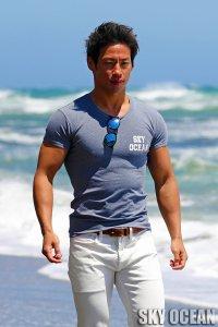 クルーネック半袖Tシャツ01(ネイビー )
