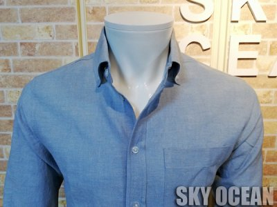 画像3: 長袖ダンガリーシャツ02(水色)