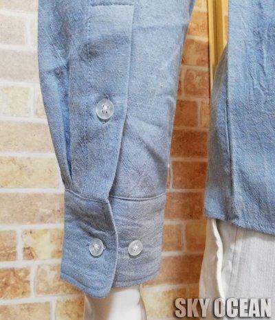画像5: 長袖ダンガリーシャツ02(水色)