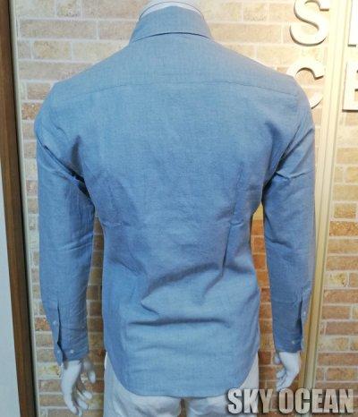 画像2: 長袖ダンガリーシャツ02(水色)