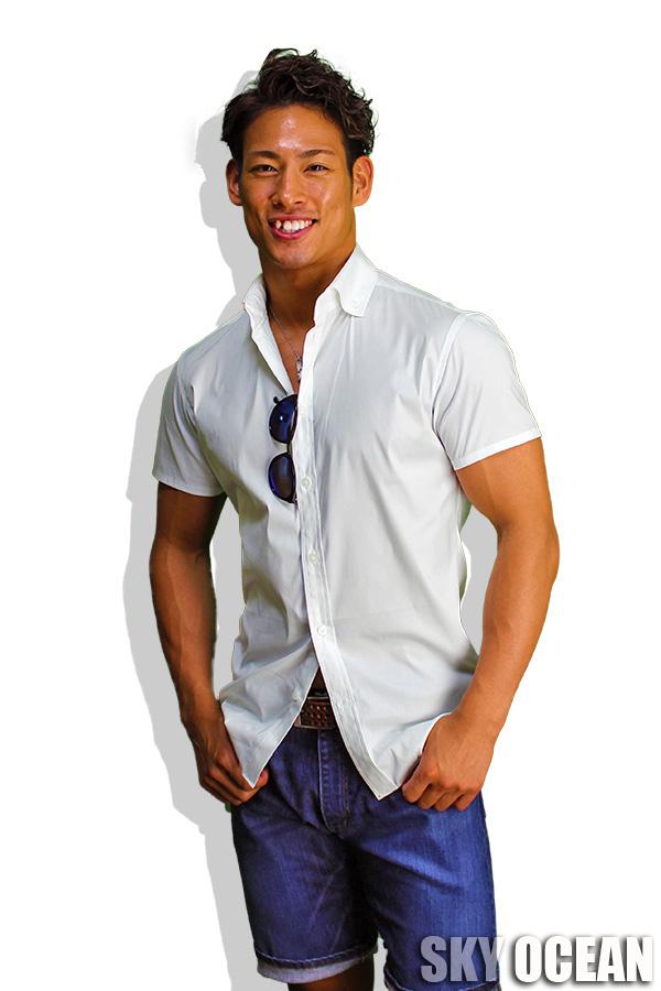 半袖ストレッチシャツ