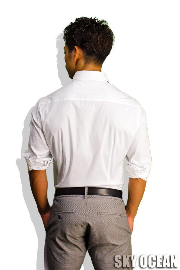 長袖ストレッチシャツ