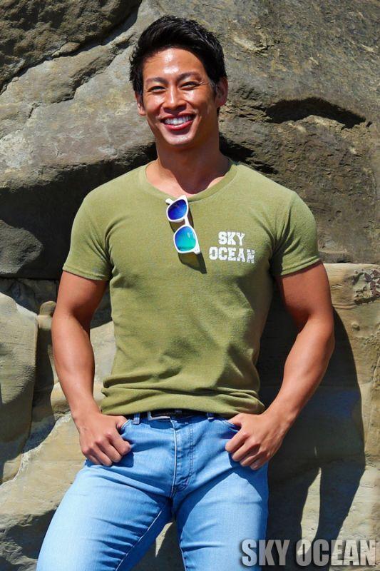 画像1: クルーネック半袖Tシャツ03(カーキ )