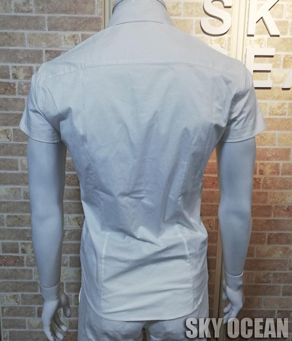 画像3: 半袖ストレッチシャツ01(ホワイト)