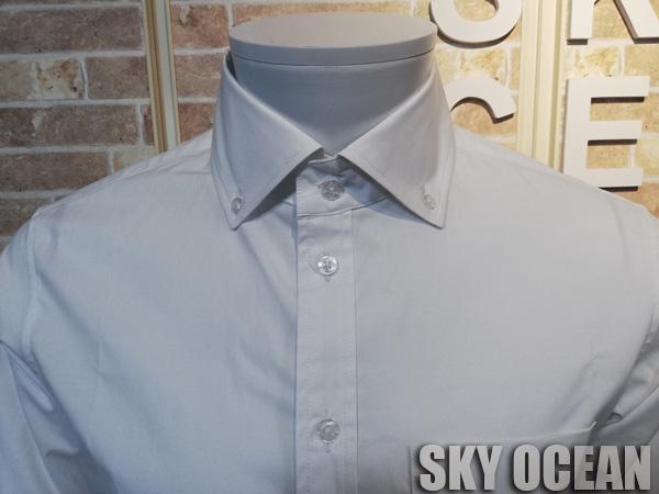 画像3: 長袖ストレッチシャツ01(ホワイト)